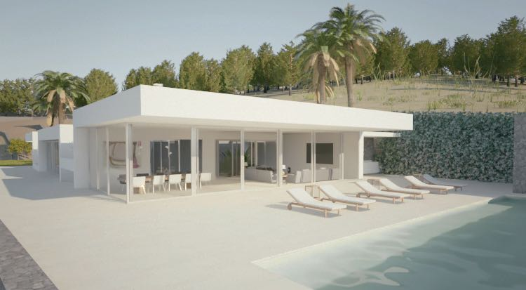MINIMALISTIC VILLA IN THE SANTA EULALIA AREA